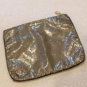 Pink Victoria's Secret large gold bag/pouch